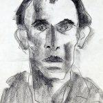 Retrato, grafite sobre papel, 28 x 21 cm, 1975. Coleção Particular.