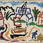 Canalização do córrego do Tatuapé, óleo sobre tela, 35 x 40 cm, 1975. Coleção Particular.