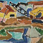 Canalização Córrego do Tatuapé, óleo sobre tela, 25 x 40 cm, 1975. Coleção Particular.