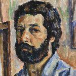 Auto-retrato, óleo sobre tela, 50 x 40 cm, 1976. Coleção Particular.