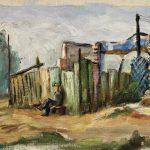 Paisagem, óleo sobre tela, 25 x 37 cm, 1967. Coleção particular.