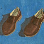 Par de sapatos, óleo sobre cartão, 30 x 40 cm, 1962. Coleção Particular.