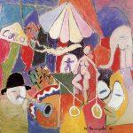 O Circo II, vinílica sobre tela, 85 x 95 cm, 1987. Coleção Particular.