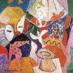 Momento mágico, vinílica sobre tela, 114 x 146 cm, 1987. Coleção Particular.