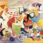 O Ilusionista, vinílica sobre tela, 85 x 95 cm, 1987. Coleção Particular.