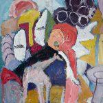 O Palhaço e os bichos, acrílica sobre tela, 46 x 38 cm, 2001. Coleção Cássia Domitt.