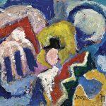 Estudo IV, acrílica sobre tela, 19 x 27 cm, 2002. Coleção Vera e Nelson Prandini.