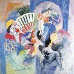 A Bailarina, vinílica sobre tela, 130 x 130 cm, 1987. Coleção Particular.