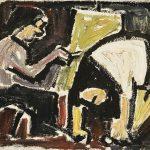 Duas Figuras, óleo sobre tela, 33 x 46 cm, 1976. Coleção Particular.