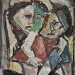 Duas crianças, óleo sobre tela, 50 x 40 cm, 1979. Coleção Particular.