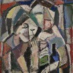 Namorados, vinílica sobre tela, 50 x 40 cm, 1979. Coleção Particular.