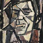 Auto-retrato, óleo sobre tela, 40 x 30 cm, 1976. Coleção Particular.