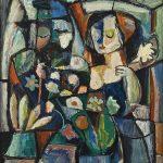 A Florista, óleo sobre tela, 75 x 61 cm, 1981. Coleção Particular.