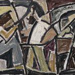 Aula de Pintura, óleo sobre tela, 33 x 53 cm, 1977. Coleção Particular.