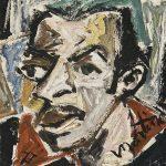 Elvis Preto, óleo sobre tela, 40 x 30 cm, 1977. Coleção Particular.