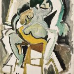 Figura, óleo sobre tela, 64 x 52 cm, 1977. Coleção Particular.