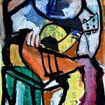 Tocador de violão, guache sobre papel, 46 x 31 cm, 1977. Coleção Particular.