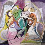 O Lobisomem e a Donzela, acrílica sobre tela, 80 x 100 cm, 2007 / 2008. Coleção Particular.