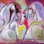 O Lobisomem e a Donzela, ast, 80 x 100 cm, 2006 / 2007. Coleção Particular.