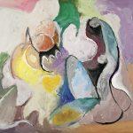 O Lobisomem e a Donzela, acrílica sobre tela, 80 x 100 cm, 2006 / 2007. Coleção Particular.
