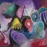 O Lobisomem e a Donzela, acrílica sobre tela, 120 x 180 cm, 2007 / 2008. Coleção Particular.
