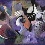 O Lobisomem e a Donzela, acrílica sobre tela, 65 x 115 cm, 2007. Coleção Particular.