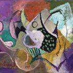 O Lobisomem e a Donzela, acrílica sobre tela, 40 x 60 cm, 2007 / 2008. Coleção Particular.