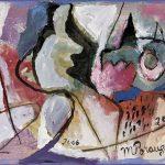 O Lobisomem e a Donzela, acrílica sobre tela, 20 x 50 cm, 2004 / 2008. Coleção Particular.