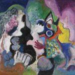 O Lobisomem e a Donzela, acrílica sobre tela, 90 x 100 cm, 1997 / 2006. Coleção Particular.