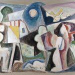 Macunaíma pintor, vinílica sobre tela, 90 x 110 cm, 1982 Coleção Particular.
