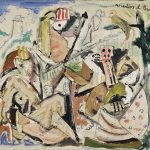 Na rede, mista sobre tela, 40 x 50 cm, 1979. Coleção Particular.
