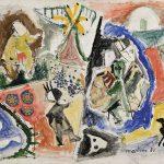 Macunaíma faz mágica, mista sobre tela, 50 x 60 cm, 1980. Coleção Particular.