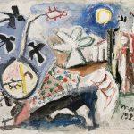 Cabeça de Boiúna, mista sobre tela, 50 x 60 cm, 1981. Coleção Particular.