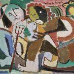 Brincando com a Mãe do Mato, vinílica sobre tela, 40 x 50 cm, 1979. Coleção Particular.