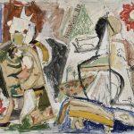 Caipora, mista sobre tela, 40 x 50 cm, 1980. Coleção Particular.