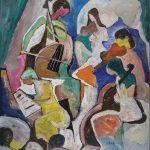 Quinteto D' Elas, acrílica sobre tela, 110 x 90 cm, 1999 / 2000. Coleção Gerson Rebane.
