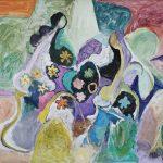 A Florista,acrílica sobre tela, 110 x 150 cm, 2007 / 2008. Coleção Alessandro Orizzo.
