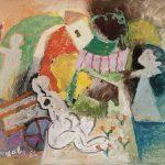 Namoro no sítio, acrílica sobre tela, 54 x 65 cm, 1986. Coleção Particular.