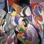 Lição de pintura, acrílica sobre tela, 160 x 220 cm, 1999 / 2008. Coleção Particular.
