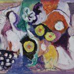 A Florista, acrílica sobre tela, 50 x 80 cm, 2008. Coleção Particular.