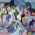 Tango, acrílica sobre tela, 100 x 130 cm, 2003 / 2005. Coleção Carolina Udoviko e Florent Mailly, Dijon, França.