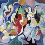 Tango, acrílica sobre tela, 100 x 130 cm, 1996 / 2005. Coleção Particular, Dijon, França.