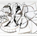 Tango, bico-de-pena sobre papel, 32,5 x 25 cm, 2005. Coleção Particular.