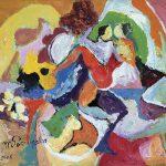 Tango Serenata, acrílica sobre tela, 38 x 46 cm, 2000 / 2005. Coleção Particular, Dijon, França.
