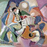 Tango, acrílica sobre tela, 38 x 46 cm, 2005. Coleção Particular, Dijon, França.